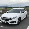 上野ドライブインで撮影したシビックセダン