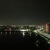 泉大津パーキングエリアの夜景、大阪市内方向